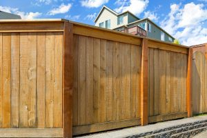 Wood Privacy Fence built in Chandler, Arizona surrounding a home.