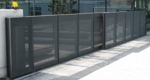 Secure fence and access gate located in Chandler for commercial and business property