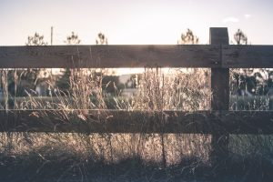 Wooden ranch fence in Chandler